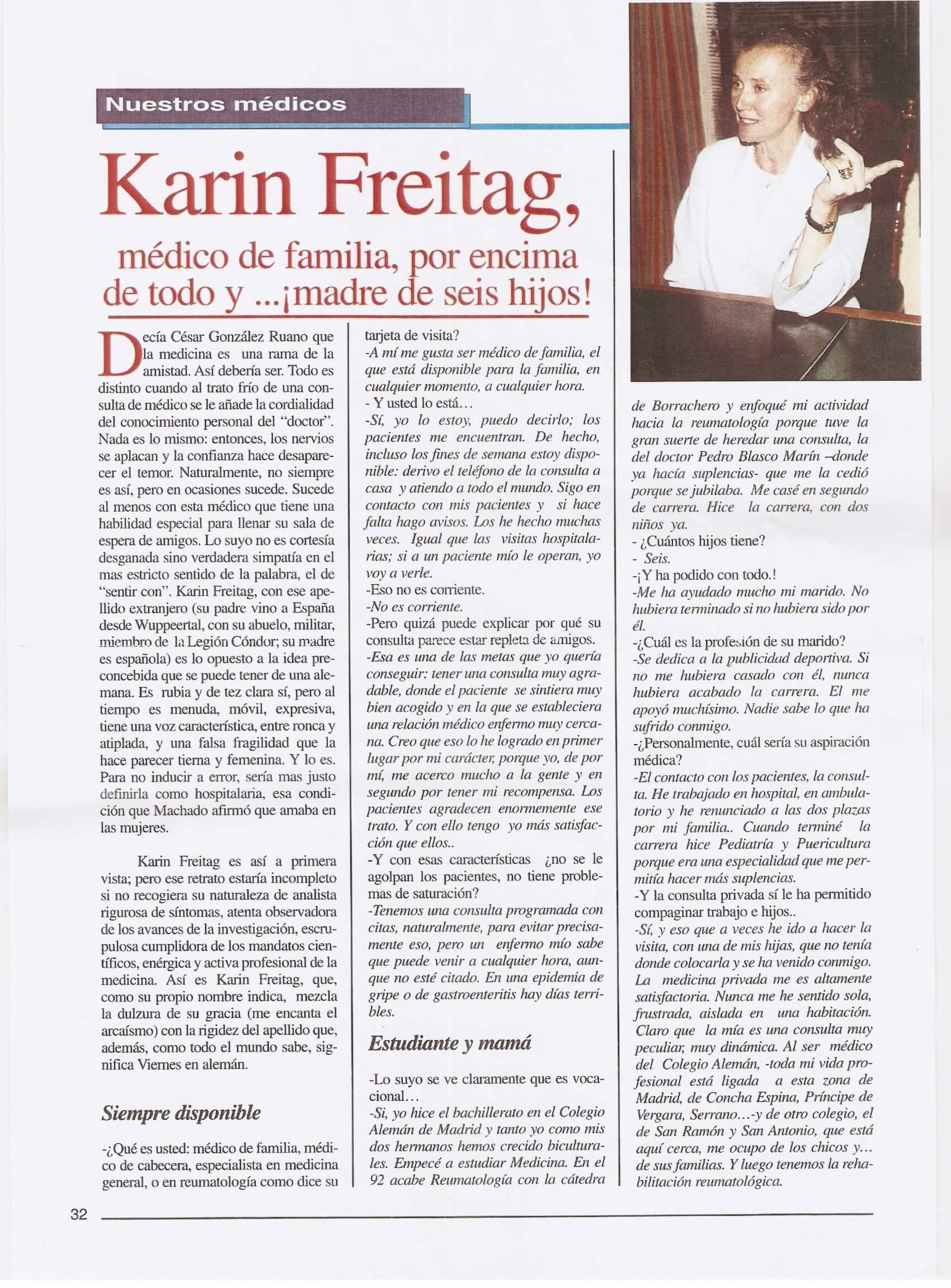 Conocer a la Dra. Karin Freitag